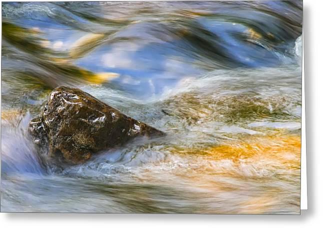 Flowing Water Greeting Card by Adam Romanowicz