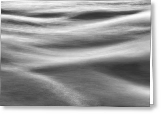 Flowing Water Greeting Card by Scott Norris