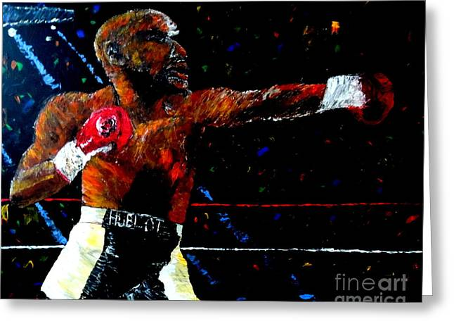Floyd Mayweather Jr  Greeting Card by Mark Moore