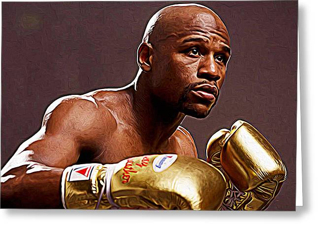 Floyd Mayweather Jr. Greeting Card by Iguanna Espinosa