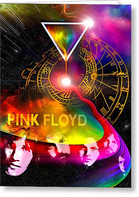 Floyd Time Greeting Card by Mal Bray
