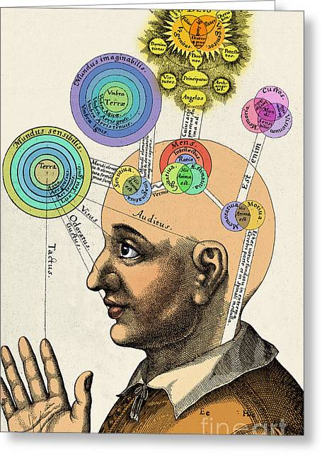 Fludds Mental Faculties, 1617 Greeting Card by Science Source