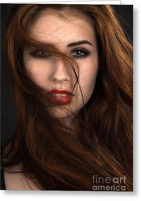 Hair Dye Greeting Cards - Fluffy Hair Greeting Card by Aleksey Tugolukov