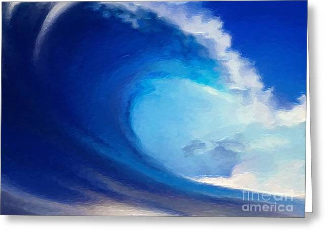 Fluid Greeting Card by Anthony Fishburne