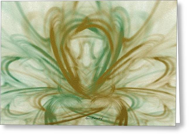 Gina Lee Manley Greeting Cards - Fluid Art Greeting Card by Gina Lee Manley