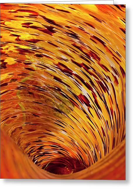 Glass Vase Greeting Cards - Flushed Greeting Card by Janet Fikar