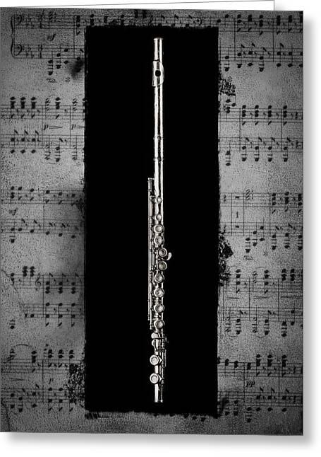 Flute Greeting Card by Patrick Chuprina
