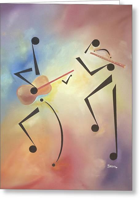 Flutina Greeting Card by Ikahl Beckford