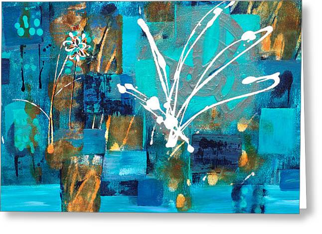 Catherine White Paintings Greeting Cards - Flutter-By Spirit Greeting Card by Catherine Jeltes