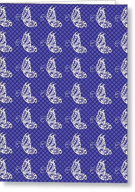 Royal Art Greeting Cards - Fluttering Butterflies - Purple and White Greeting Card by Shawna  Rowe