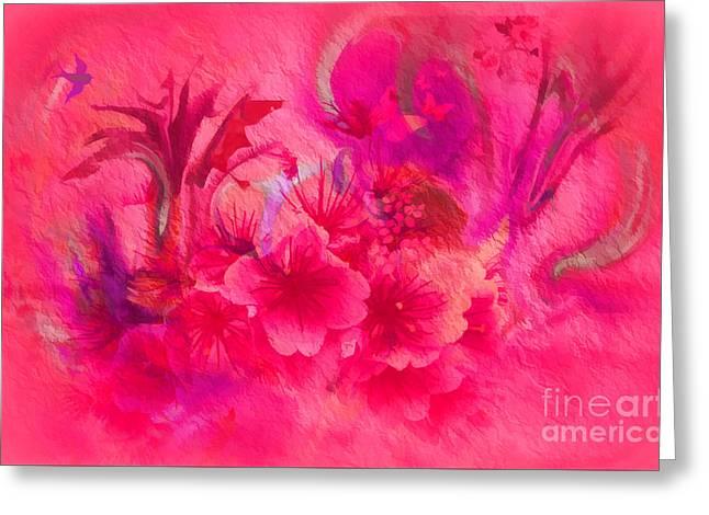 - Flower Art Pinky Pink  Greeting Card by Sherri  Of Palm Springs