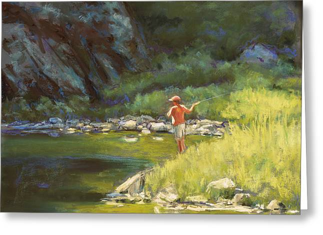 Fly Fishing Greeting Card by Billie Colson