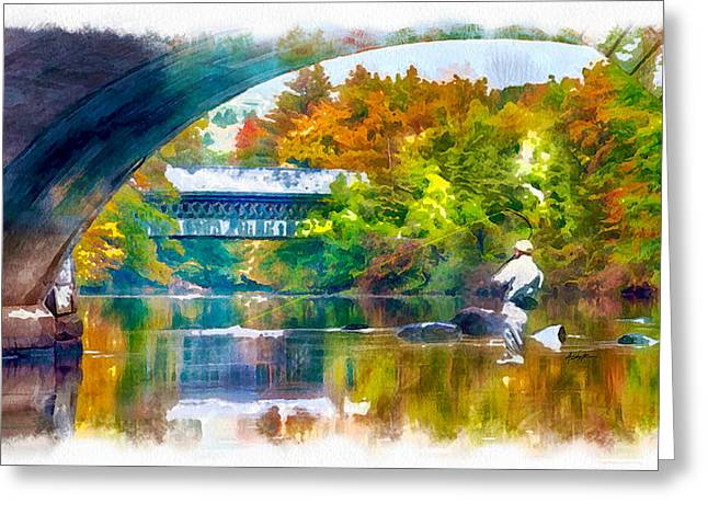Fly Fishing In New England Greeting Card by Anthony Caruso