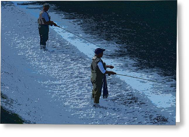 Fly Fishing Greeting Card by Julie Grace