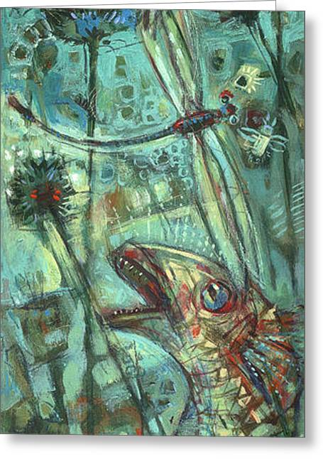 Fish Print Greeting Cards - Fly fishing Greeting Card by Nato  Gomes