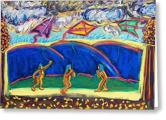 Kites Pastels Greeting Cards - Fly High Greeting Card by Albert  Almondia