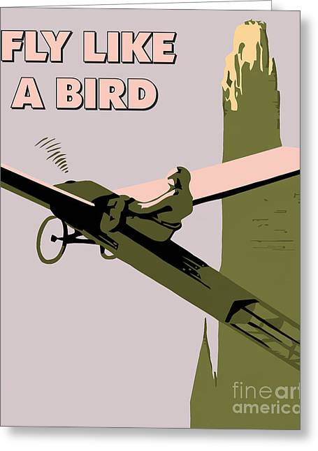 Ambition Drawings Greeting Cards - Fly like a bird Greeting Card by Heidi De Leeuw