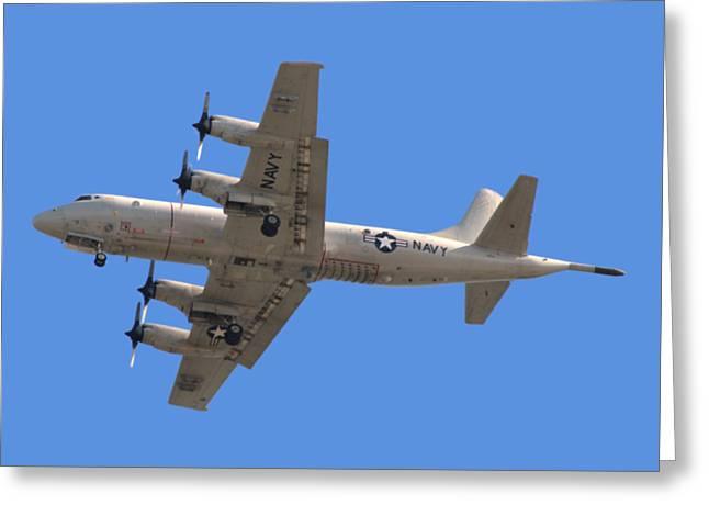 Photographic Greeting Cards - Fly Navy T-Shirt Greeting Card by Bob Slitzan