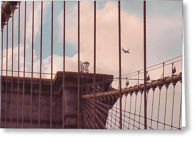 Clique Greeting Cards - Fly Over Brooklyn  Greeting Card by Charlie Cliques