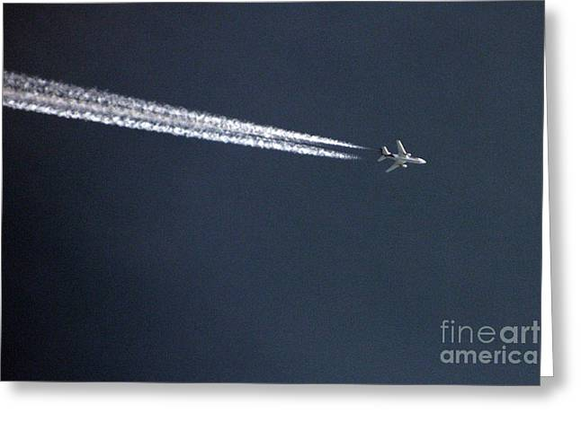 Passenger Airplanes Greeting Cards - Fly Over Greeting Card by Joy Tudor