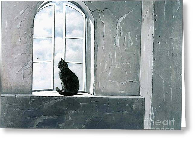 Window Light Greeting Cards - Fly Watching Greeting Card by Robert Foster