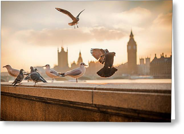 Ledge Greeting Cards - Flyers Of London Greeting Card by Luis Llerna