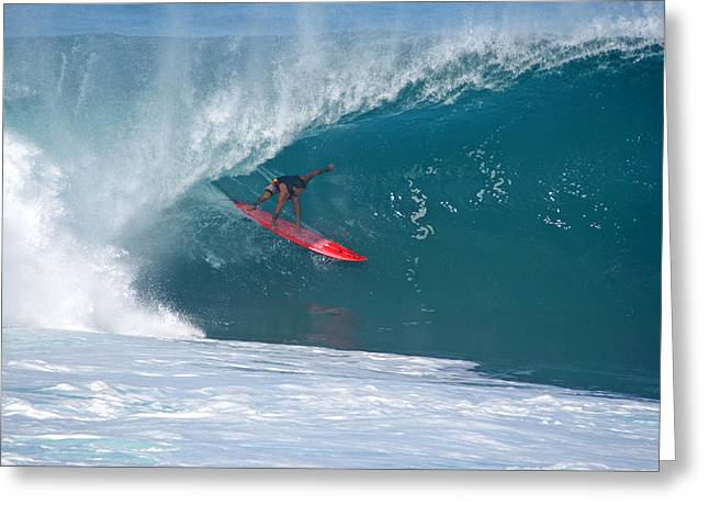 Banzai Pipeline Greeting Cards - Flyin Hawaiian Greeting Card by Kevin Smith