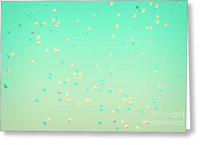 Flying Balloons Greeting Card by Delphimages Photo Creations