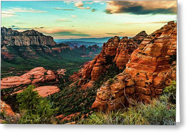 Flying Buttress 04-202 Greeting Card by Scott McAllister