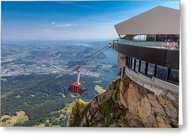Swiss Photographs Greeting Cards - Flying by Wire Greeting Card by W Chris Fooshee