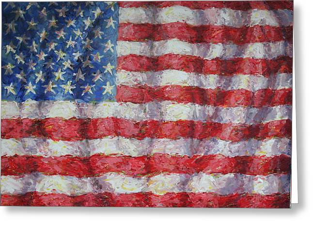 4th July Paintings Greeting Cards - Flying Glory Greeting Card by Jimmy Leach