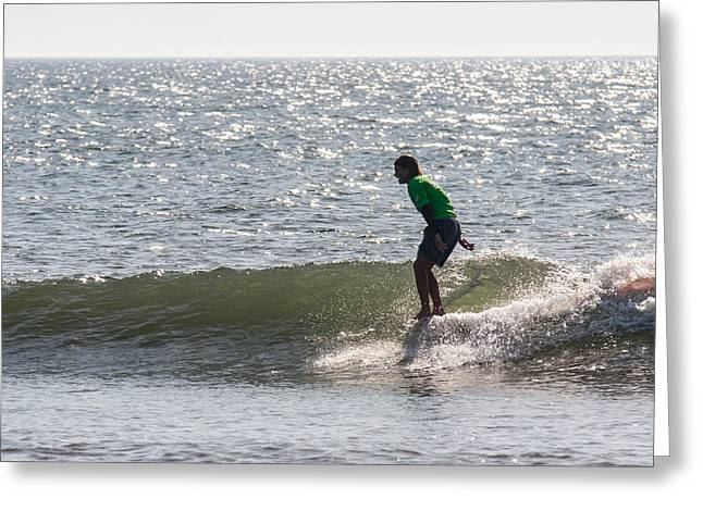 Surfing Photos Greeting Cards - Flying High Greeting Card by AM Photography
