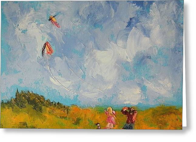 Best Sellers -  - Kite Greeting Cards - Flying Kites Greeting Card by Gayle McGinty