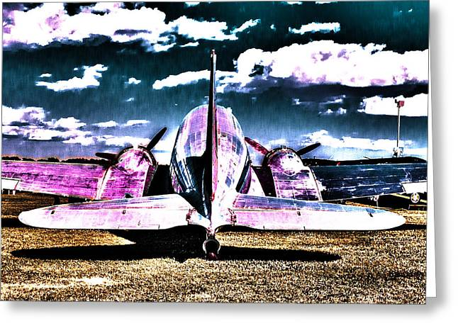 Tail-draggers Greeting Cards - Flying Mirror Greeting Card by Scott Perkins