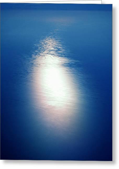 Framedprint Greeting Cards - Flying over the Ocean Greeting Card by Colette V Hera  Guggenheim