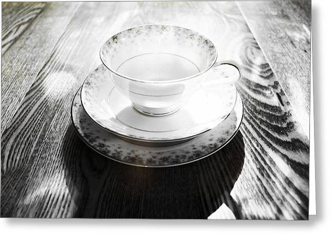 White Photographs Greeting Cards - Flying Saucer Greeting Card by Tom Druin