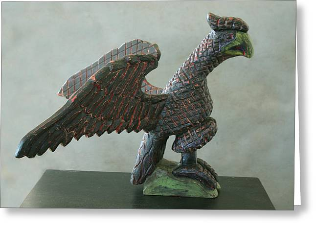 Folk Art Sculptures Greeting Cards - Flying Schimmel Greeting Card by James Neill