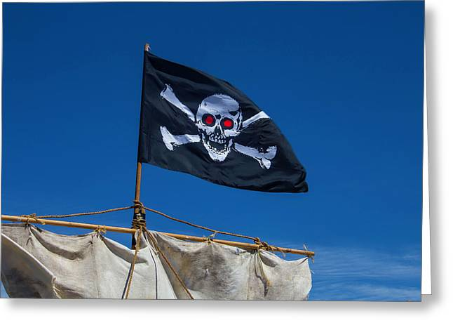 Flying The Black Flag Greeting Card by Garry Gay