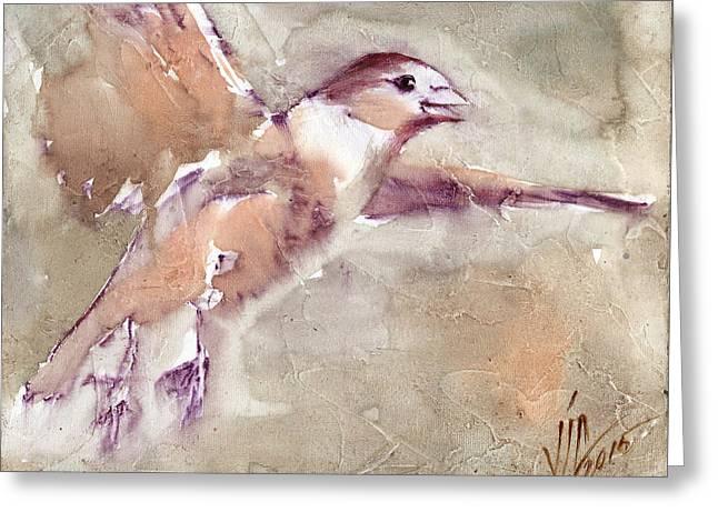 Nature Greeting Cards - Flying Greeting Card by Vali Irina Ciobanu