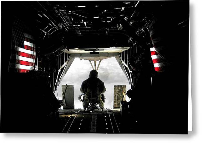 Helmand Province Greeting Cards - Flying with the stars and stripes in Afghanistan Greeting Card by Jetson Nguyen