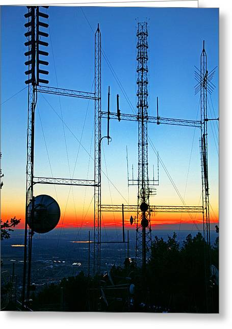 Mechanization Greeting Cards - FM Transmitters Greeting Card by Mike Flynn
