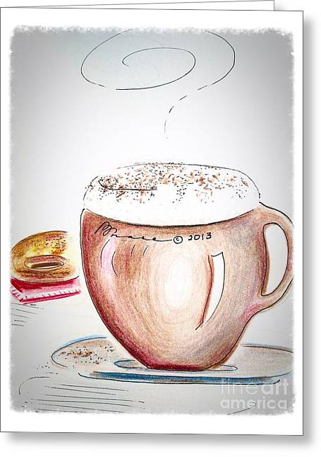 Foamy Cappuccino  Greeting Card by Barbara Chase