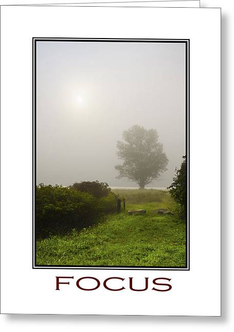 Visualize Greeting Cards - Focus Inspirational Motivational Poster Art Greeting Card by Christina Rollo
