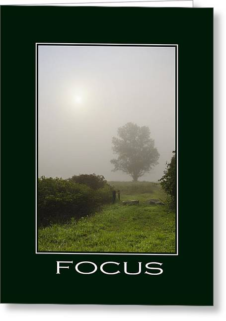 Focus Inspirational Poster Art Greeting Card by Christina Rollo