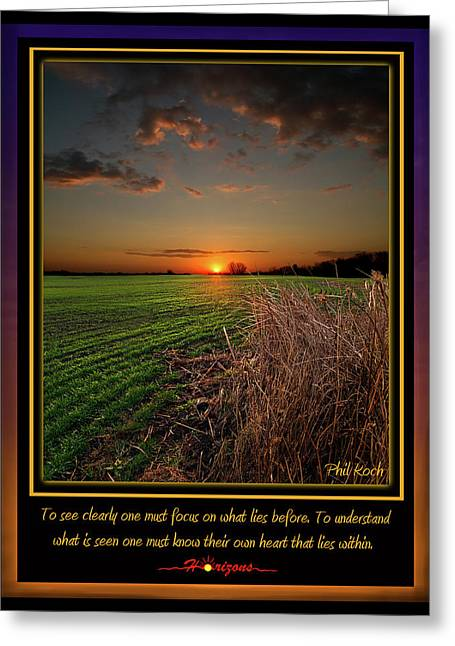 Inspirational Poster Greeting Cards - Focus Greeting Card by Phil Koch