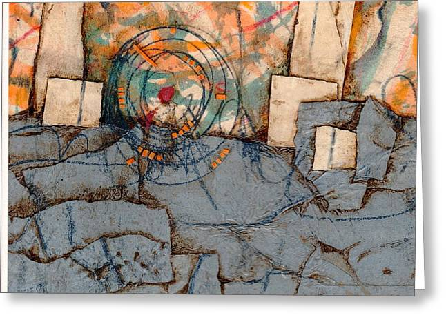 Marks Mixed Media Greeting Cards - Focused  Greeting Card by Laura  Lein-Svencner