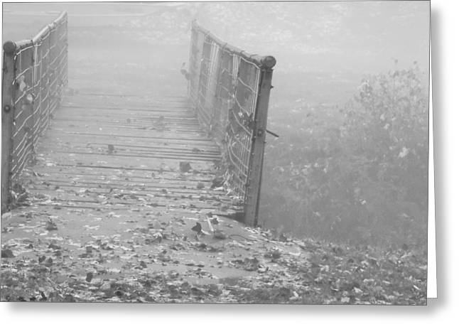 Eerie Greeting Cards - Fog after the Storm Greeting Card by Pamela Pursel