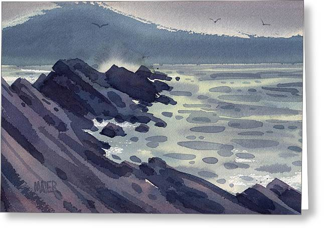Jetty Greeting Cards - Fog Bank Greeting Card by Donald Maier