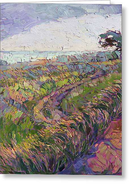Cambria Greeting Cards - Fog Bank Greeting Card by Erin Hanson