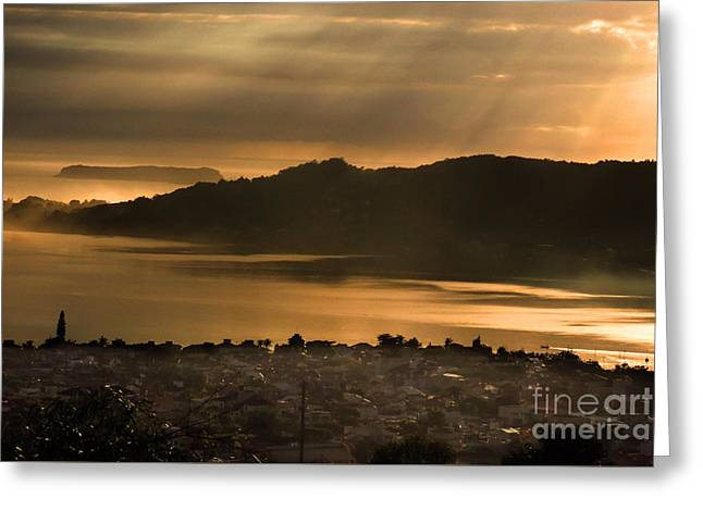Beach House Tapestries - Textiles Greeting Cards - Fog in Florianopolis Greeting Card by James Hennis